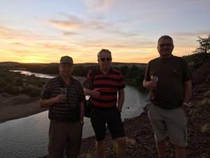 Österreicher am Fishriver, Sonnenuntergang
